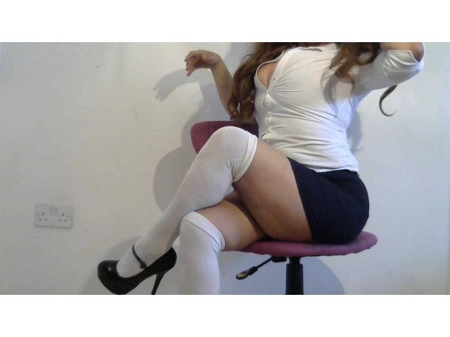 Thigh High White Socks