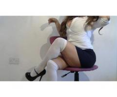 Thigh High White Socks