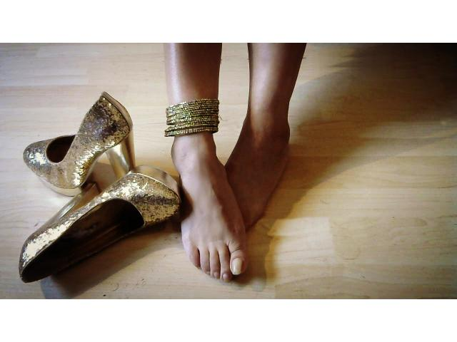 My Worn Gold Shoes For Sale